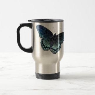 Mosaïque de papillon mug de voyage