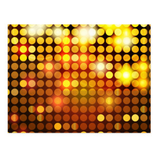 Mosaïque d'or brillante cartes postales