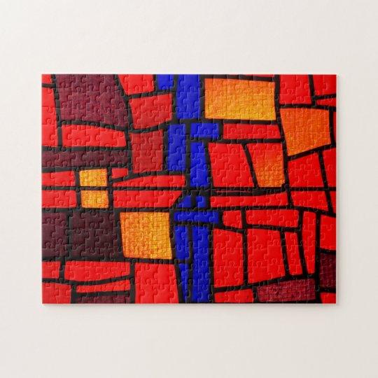 Mosaïque en verre souillé puzzle