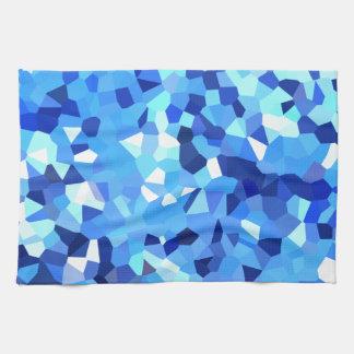 Mosaïque moderne bleue et de blanc en verre linge de cuisine