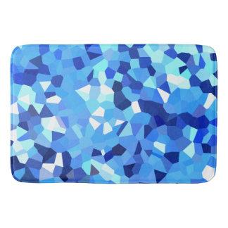 Mosaïque moderne bleue et de blanc en verre tapis de bain