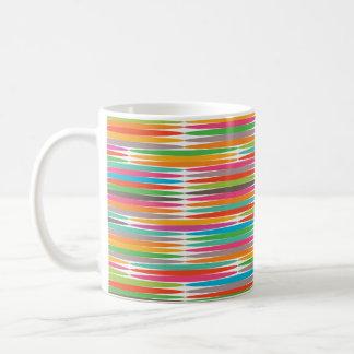 Mosaïque multicolore abstraite d arc-en-ciel d art tasses