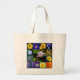 Mosaïque pourpre et jaune de jardin grand sac