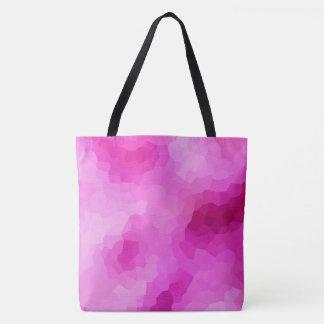 Mosaïque pourpre et rose moderne en verre souillé tote bag