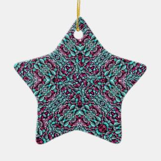 Mosaïque stylisée de motif de texture ornement étoile en céramique