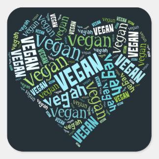 """Mosaïque """"végétalienne"""" de Mot-Nuage Sticker Carré"""