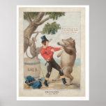 Mose en Californie : Bagarre avec un ours (1475) Posters