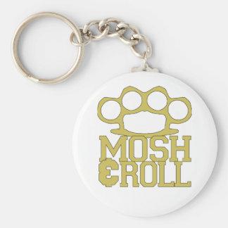 Mosh et roulez le porte - clé porte-clé rond