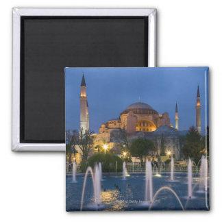 Mosquée bleue, Istanbul, Turquie Magnet Carré
