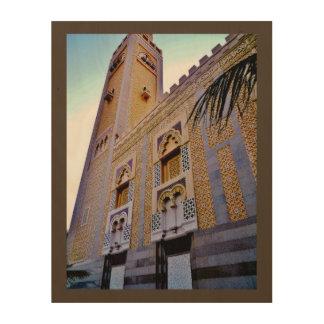 Mosquée de Jeddah Impression Sur Bois