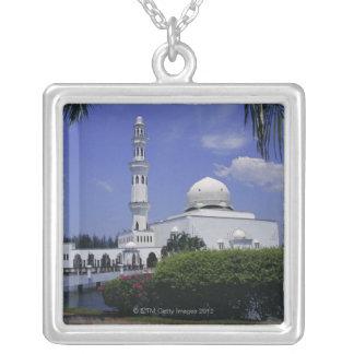 Mosquée et tour, Singapour Pendentif Carré