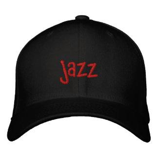 Mot de jazz sur le casquette de baseball noir