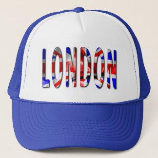Mot de Londres avec le casquette de camionneur de