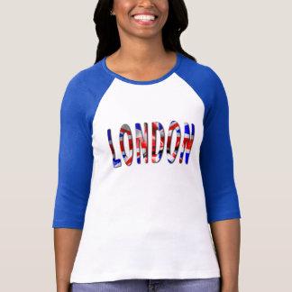 Mot de Londres avec le T-shirt des femmes de
