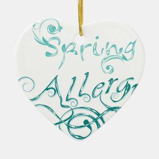 Mot décoratif Allergy2 Ornement Cœur En Céramique