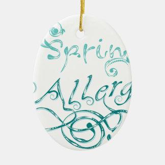 Mot décoratif Allergy2 Ornement Ovale En Céramique