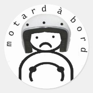 MOTARD à BORD Autocollants