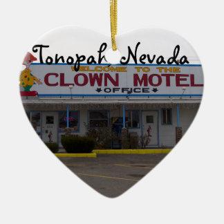Motel de clown ornement cœur en céramique