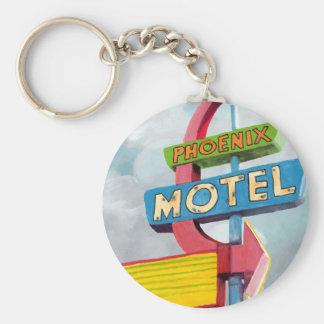 Motel de Phoenix d'aquarelle Porte-clé Rond