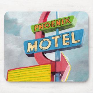 Motel de Phoenix d'aquarelle Tapis De Souris