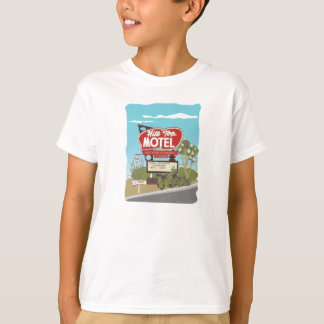 Motel de sommet sur l'itinéraire 66 t-shirts
