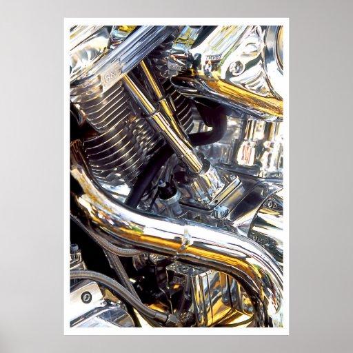 Moteur de moto, affiche