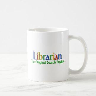 Moteur de recherche d'original de bibliothécaire mug blanc