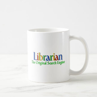 Moteur de recherche d'original de bibliothécaire tasses à café