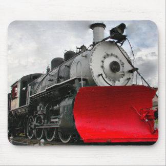 Moteur de train avec le mousepad de chasse-neige tapis de souris