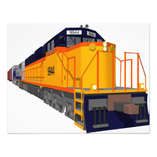 Moteur de train Modèle de couleurs classique Invitations Personnalisées