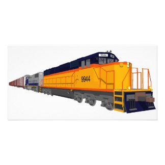 Moteur de train : Modèle de couleurs classique : Photocarte Customisée