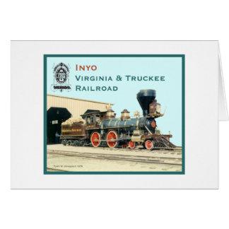 Moteur d'Inyo de chemin de fer de V&T Carte De Vœux