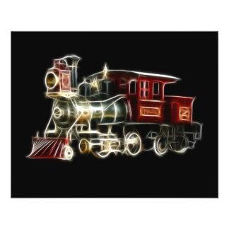 Moteur locomotif de train de vapeur prospectus 11,4 cm x 14,2 cm
