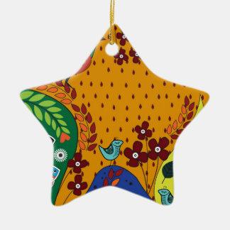 Motif 10 ornement étoile en céramique