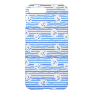 Motif 1 d'ancre d'aquarelle coque iPhone 8 plus/7 plus
