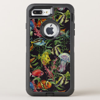 Motif 1 de vie marine d'aquarelle coque OtterBox defender iPhone 8 plus/7 plus