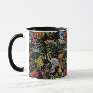 Motif 1 de vie marine d'aquarelle mugs