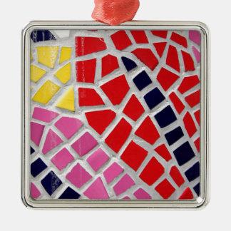 motif 1 ornement carré argenté