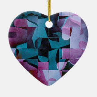 Motif 2017 004 ornement cœur en céramique
