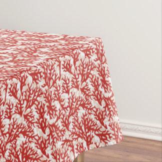 Motif 2 de corail rouge nappe