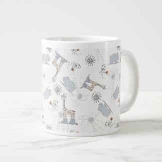 motif 2 de griffonnage mug jumbo