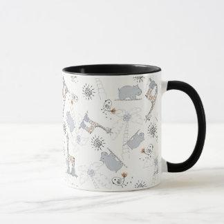 motif 2 de griffonnage mugs