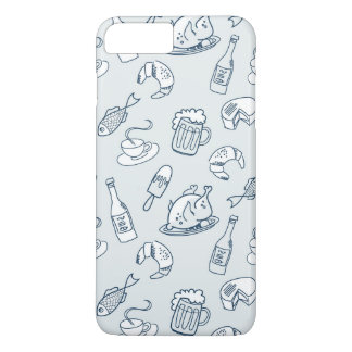 Motif 2 de nourriture coque iPhone 7 plus