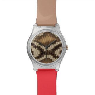 Motif 2 de peau de serpent de python montres bracelet