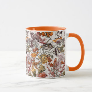 Motif 2 de vie marine d'aquarelle mug