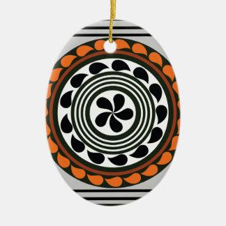 Motif 2 ornement ovale en céramique
