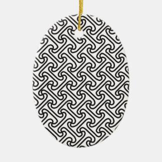 Motif 7 ornement ovale en céramique