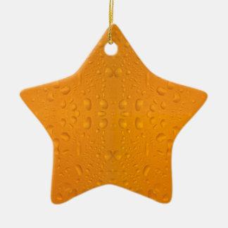 Motif 8868 en verre de bière macro ornement étoile en céramique