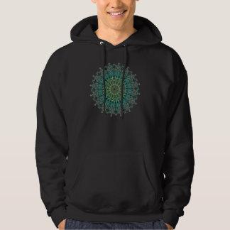 Motif à feuillage persistant de mandala veste à capuche