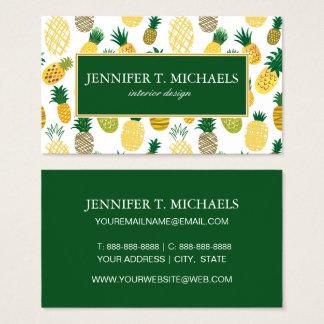 Motif à la mode d'ananas cartes de visite